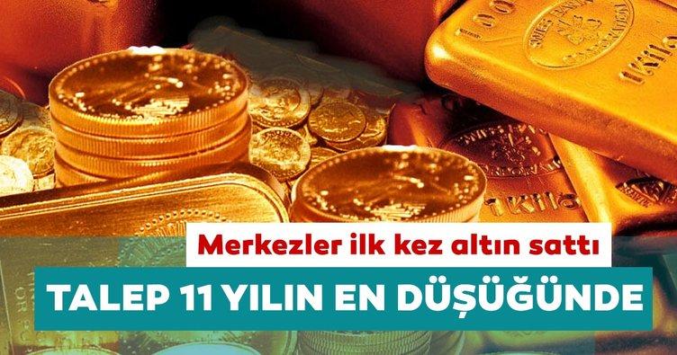 Altın talebi 11 yılın en düşük düzeyine geriledi