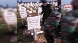 Esad rejimi ve destekçileri mezar taşı ve camileri tahrip etti