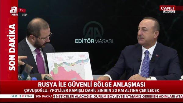 İşte güvenli bölgenin haritası... Dışişleri Bakanı MevlütÇavuşoğlu, mutabakatın detaylarını canlı yayında açıkladı!