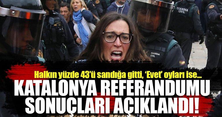 Katalonya referandum sonucu: Yüzde 43 katılım, yüzde 90 'evet'