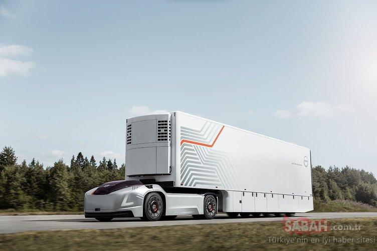 Volvo'dan tasarım harikası sürücü kabini olmayan TIR!