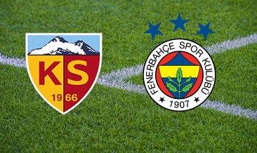 Kayserispor Fenerbahçe CANLI İZLE! Ziraat Türkiye Kupası Kayserispor Fenerbahçe ATV canlı yayın linki burada!