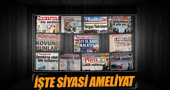 Manşetlerle siyasi ameliyat