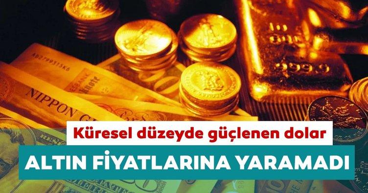Küresel düzeyde güçlenen dolar altın fiyatlarını geriletti
