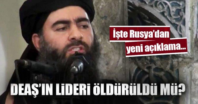 Rusya: Ebu Bekir el-Bağdadi büyük ihtimalle öldü!