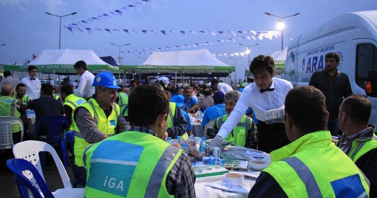 3. havalimanında  iftar programı