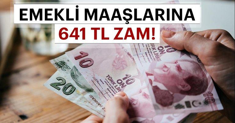 Son dakika haber: Emekli maaşlarına 641 lira zam! İşte en düşük emekli zammı...
