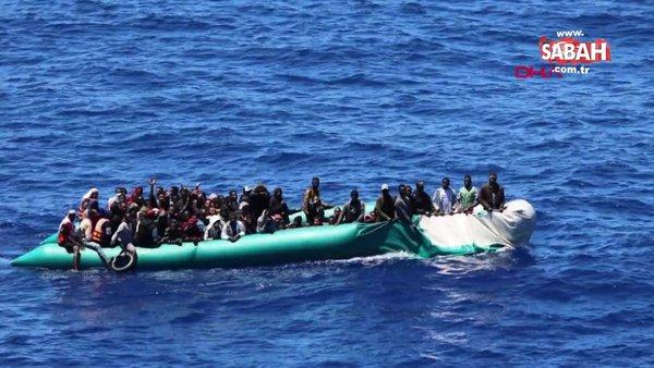 Mehmetçikler Libya açıklarında 97 düzensiz göçmeni kurtardı