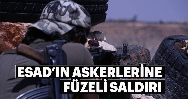 Esad'ın askerlerine füzeli saldırı