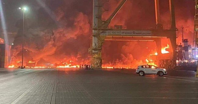 Son dakika: Dubai'de büyük bir patlama! Bölgede yangın çıktı