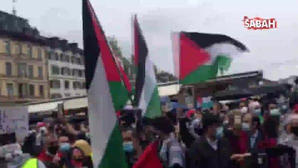 İsviçre'de binlerce kişi İsrail'in Mescid-i Aksa'ya ve Filistinlilere yönelik saldırılarını protesto etti: Recep Tayyip Erdoğan sesleri