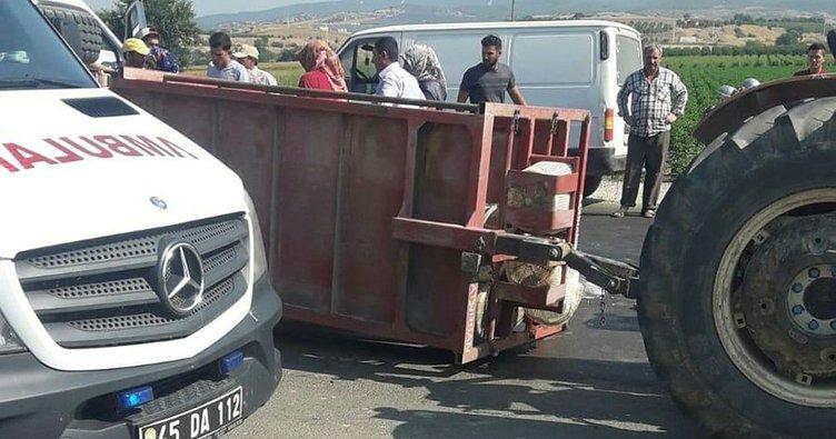 Manisa'da tarım işçilerini taşıyan traktör devrildi: 8 yaralı