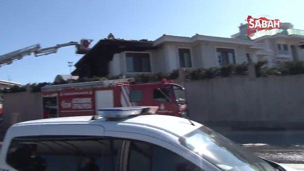 Tuzla'da villada korkutan yangın | Video