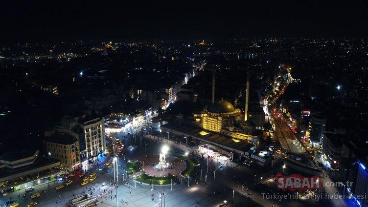 Sona yaklaşıldı! Taksim Camii Işıklandırıldı