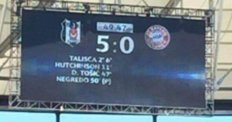 Beşiktaş, Bayern Münih'i 5-0 yeniyor!