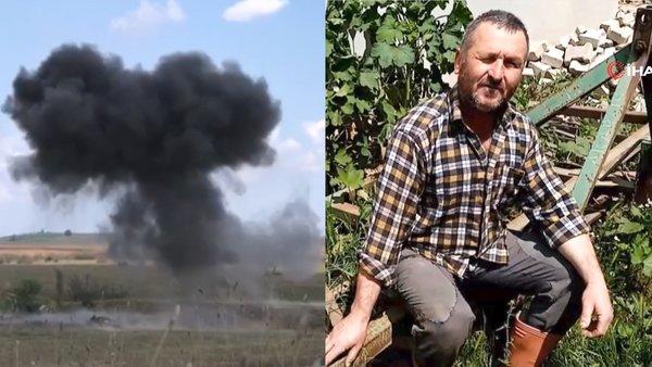 Tekirdağ'da tarla süren çiftçiye top mermisi şoku | Video