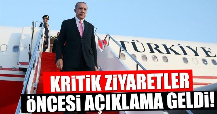 Cumhurbaşkanı Erdoğan'ın kritik ziyaretlerinin ayrıntısı belli oldu!