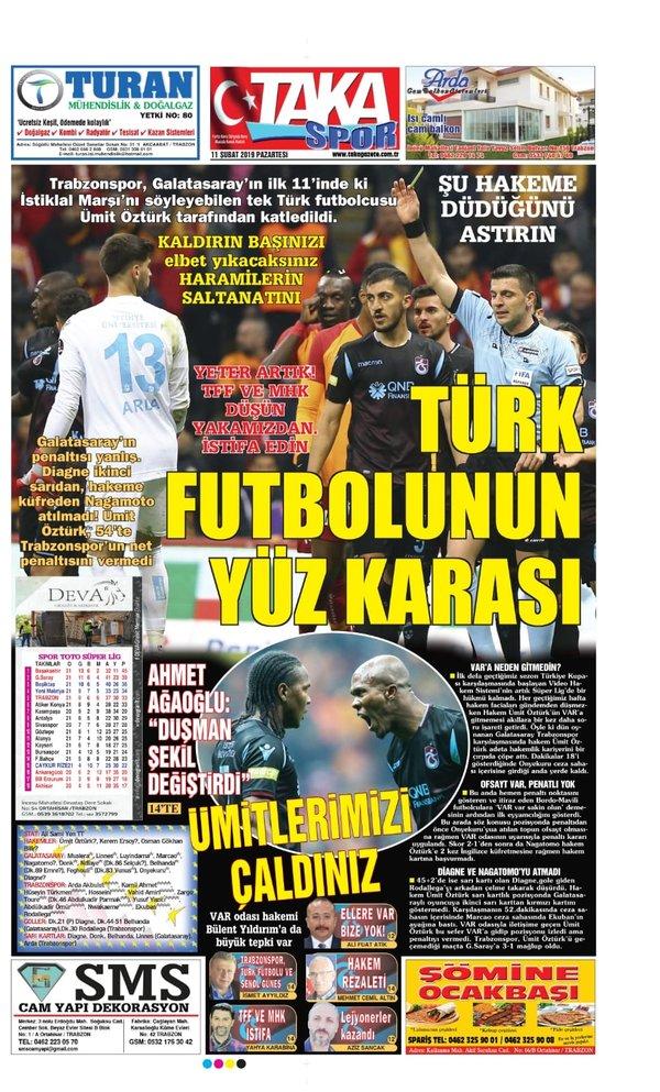 Trabzon'da yerel basın Ümit Öztürk'e tepkili