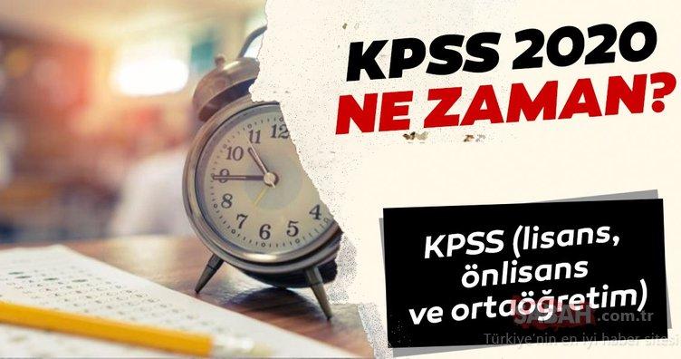 KPSS 2020 ne zaman? ÖSYM KPSS lisans, önlisans ve ortaöğretim başvuru ve sınav tarihleri!