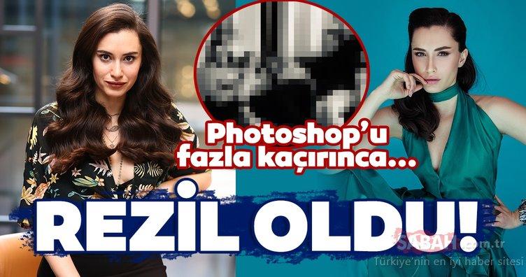 Ünlü oyuncu Hande Doğandemir Photoshop'u fazla kaçırınca rezil oldu!
