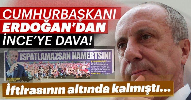Son dakika: Erdoğan'dan İnce'ye tazminat davası