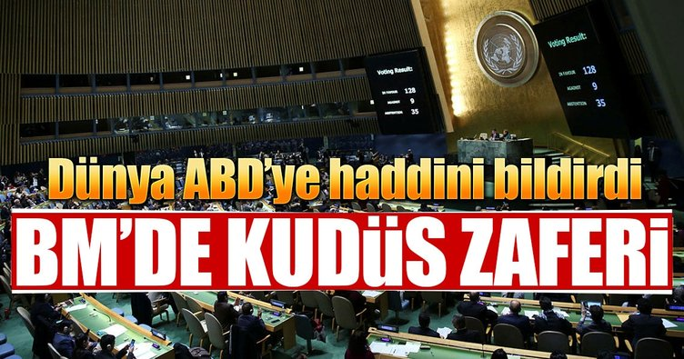 BM'de tarihi Kudüs oylaması gerçekleşti