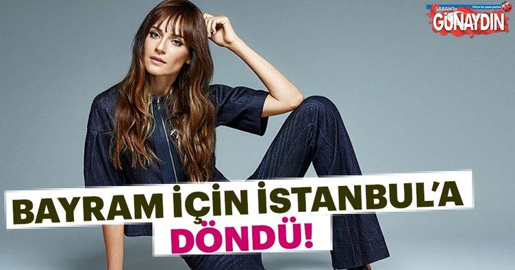 Sedef Avcı bayram için İstanbul'a döndü