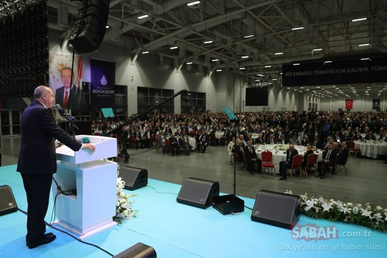 İstanbul'da esnaf ve sanatkarlarla iftar programında konuşan Başkan Erdoğan müjdeler verdi