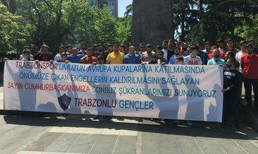 Trabzonspor taraftarından Cumhurbaşkanı Erdoğan'a teşekkür