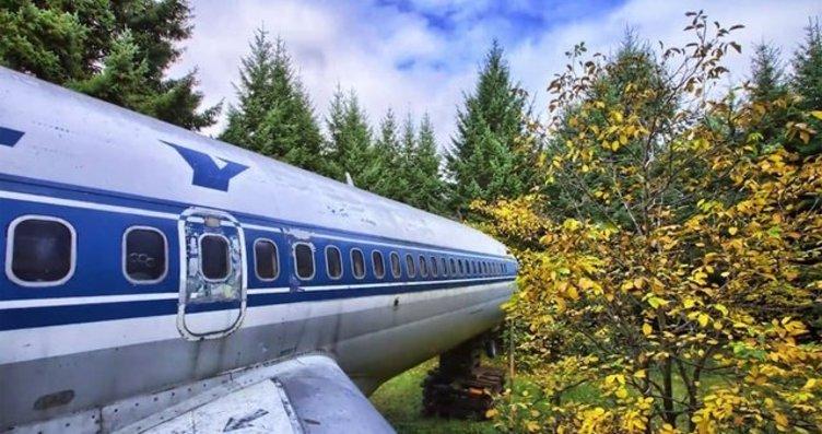 Emekli mühendis Boeing 727'yi eve dönüştürdü